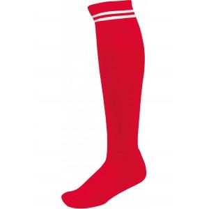 voetbalkousen met contrastreep rood/wit